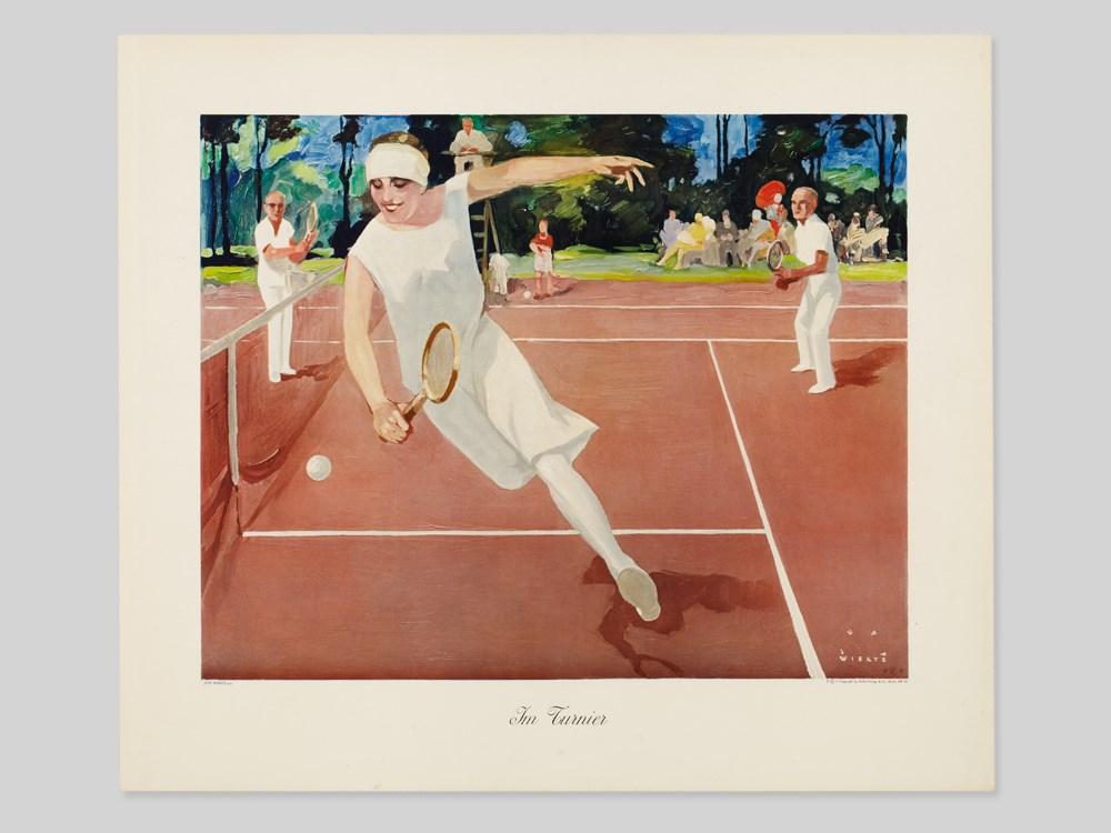 "Lot 47 - Art Poster, ""In the Tournament"", after Jupp Wiertz, 1930s Art Print on cardboardGermany,"