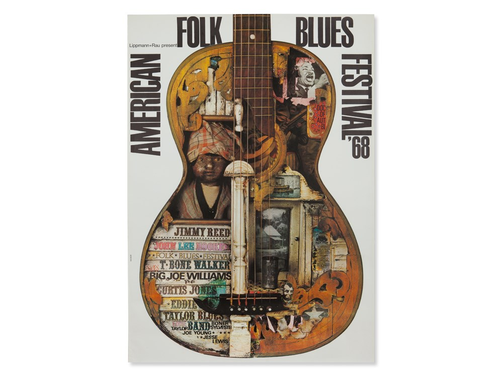 Lot 49 - Guenther Kieser, Poster 'American Folk Blues Festival', 1968Offset print on paperGermany,