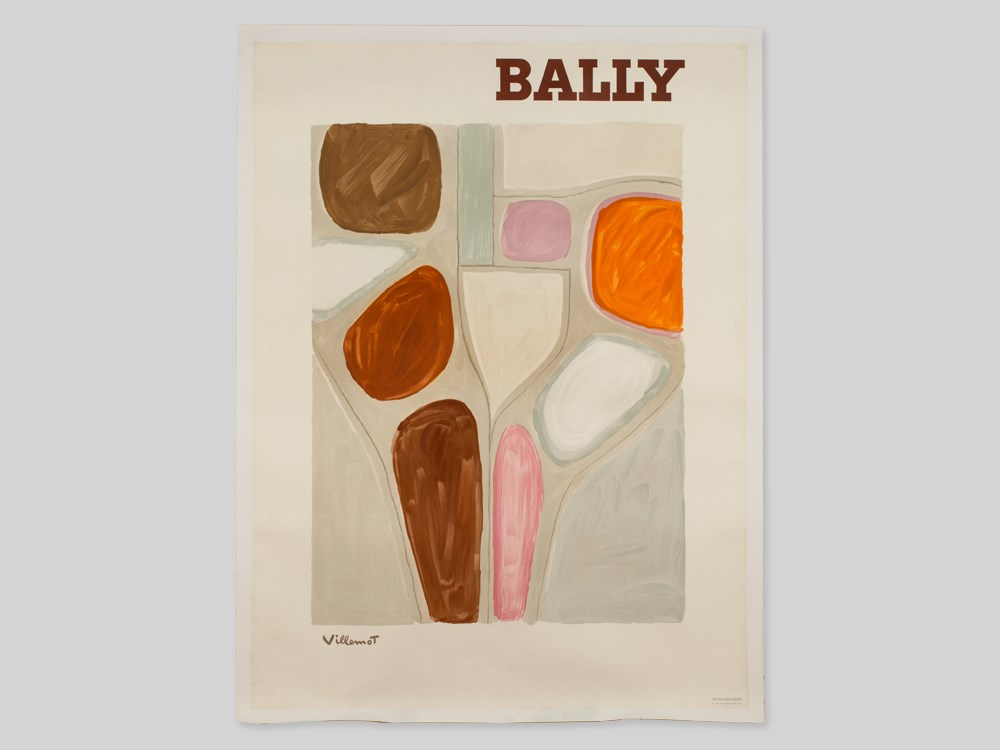Lot 43 - Abstract Advertising Poster for Bally by Villemot, France, 1968 Colour lithographFrance, 1968Bernard