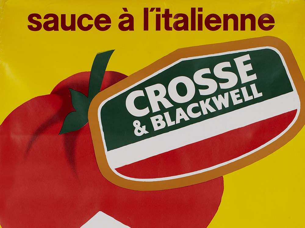"""Lot 44 - Advertising poster """"Crosse & Blackwell"""" by Villemot, ca. 1970 France, circa 1970Colour lithography"""