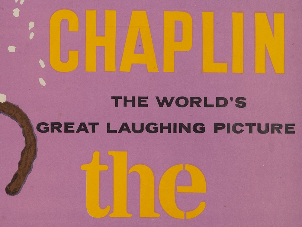 """Lot 59 - Movie Poster """"Charlie Chaplin – The Gold Rush"""", London, 1960sColour lithography on paperGreat"""