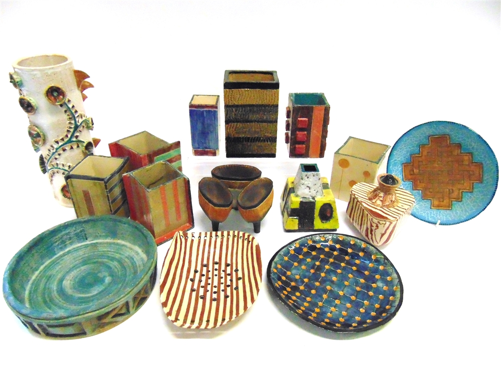 Phillip John Bennett A Collection Of Studio Pottery Vases And Bowls