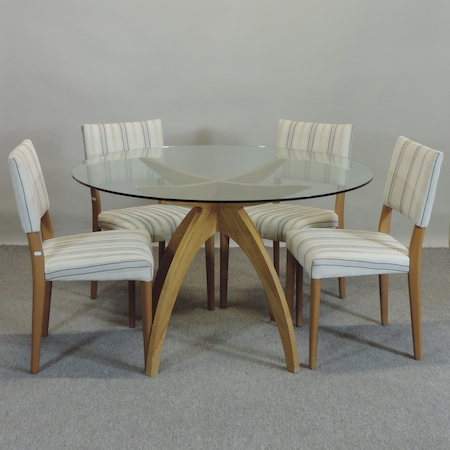 Ordinaire Lot 764   A Contemporary Conran Boomerang Dining Table, With A Glass Top,