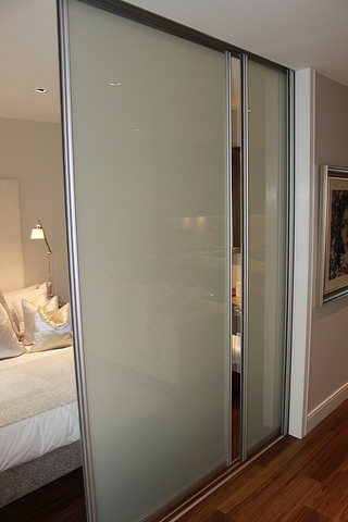 Sliding opaque room divider comprising of 3 x panels each 1100mm x 2570mm - Opaque room divider ...