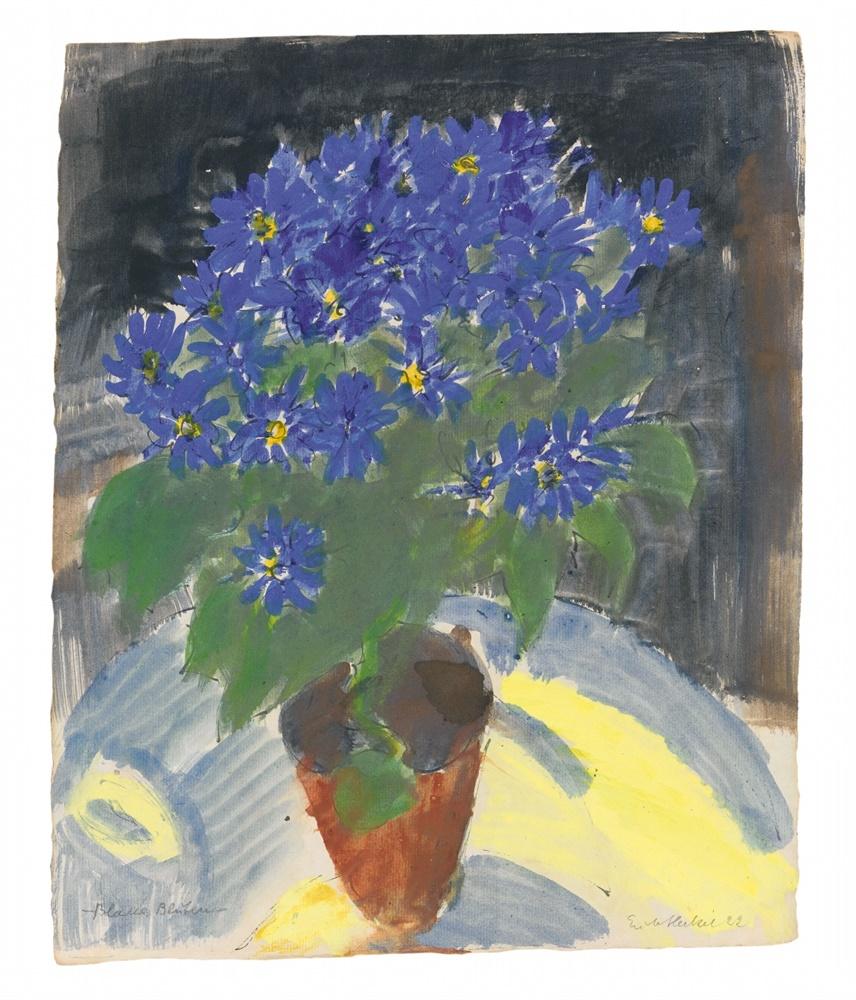 Erich HeckelBlaue Blüten