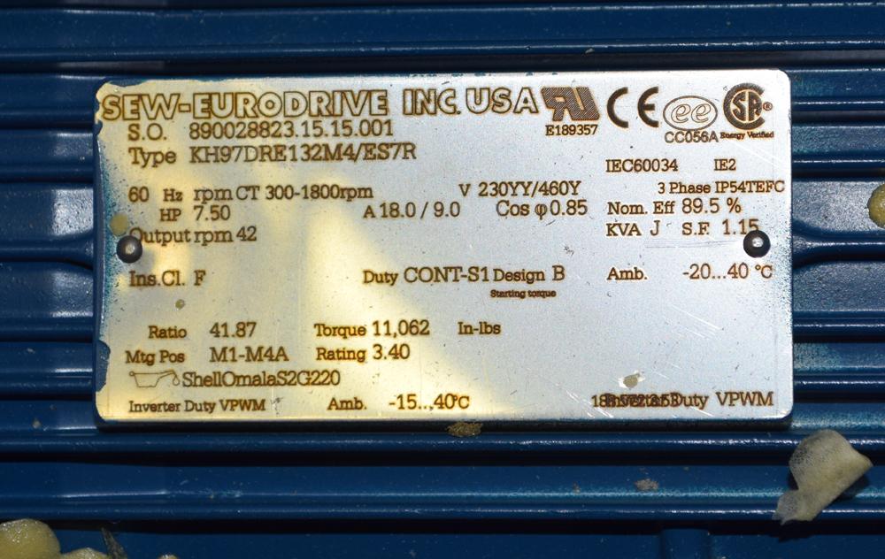 Unused Sew Eurodrive Gear Motor - Image 3 of 4