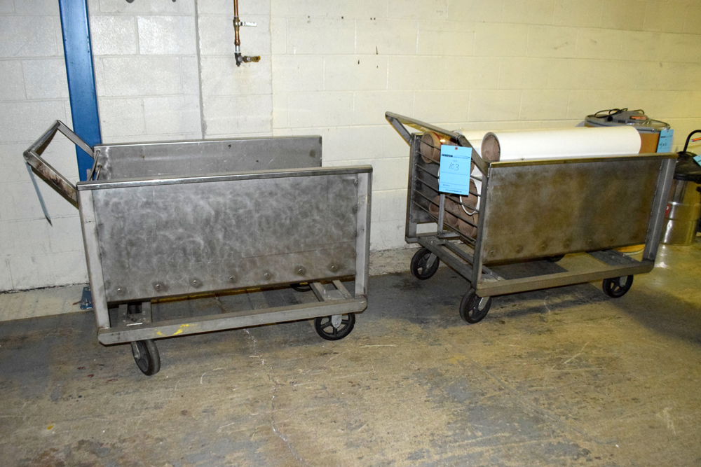 Lot 103 - Stainless Steel Carts