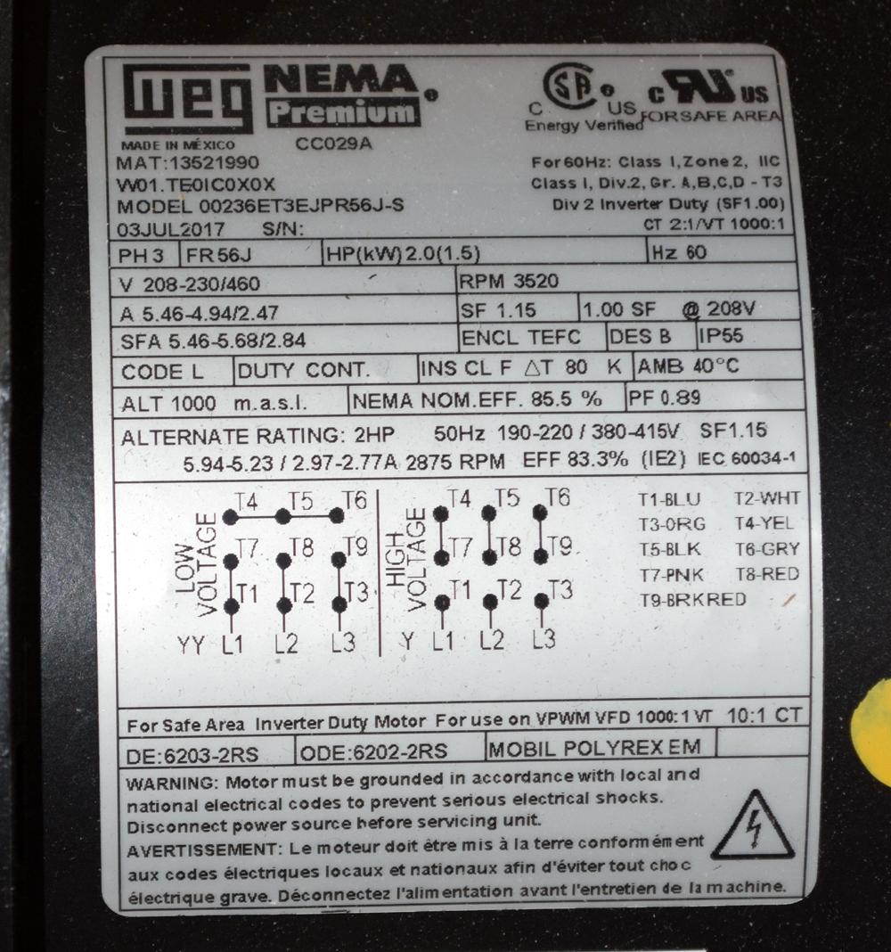 Unused WEG Motors - Image 3 of 3