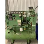 Sullair 10-30 Air Compressor. Meter reading is 01678.43. Driven by a 30 Hp, 230/460 Volt, 3 Phase,
