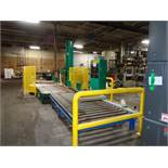 Signoid Automated Stretch Wrapper with powered infeed/outfeed roller conveyors –