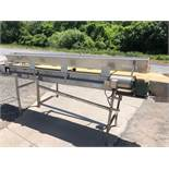 """11' L x 20"""" W PVC Belt Conveyor with 1 hp Motor with Gearbox, S/S - Good Working Condition ("""