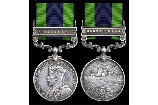India General Service 1908-35, 1 clasp, Burma 1930-32