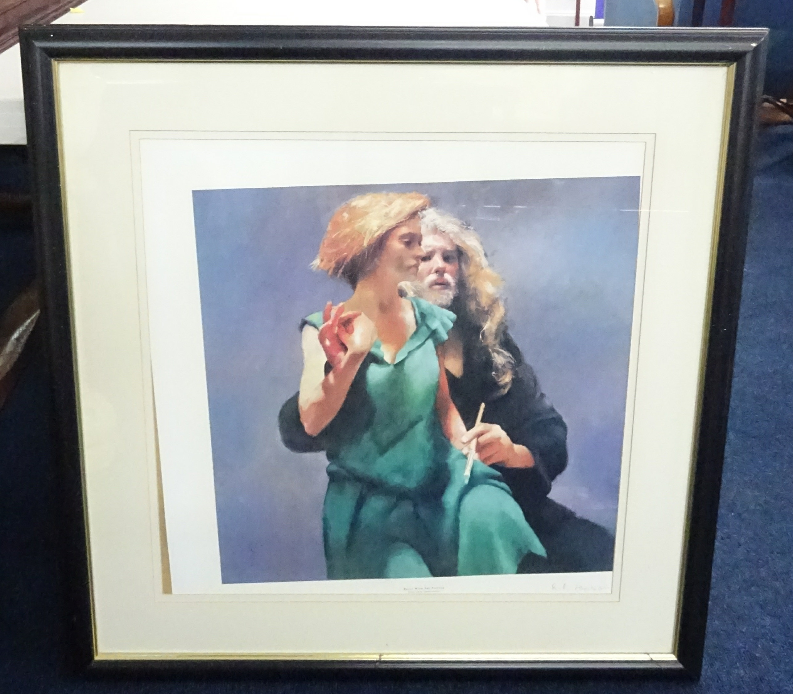 Lot 056 - Robert Lenkiewicz (1941-2002) signed print 'Bella with the painter', number 2550.