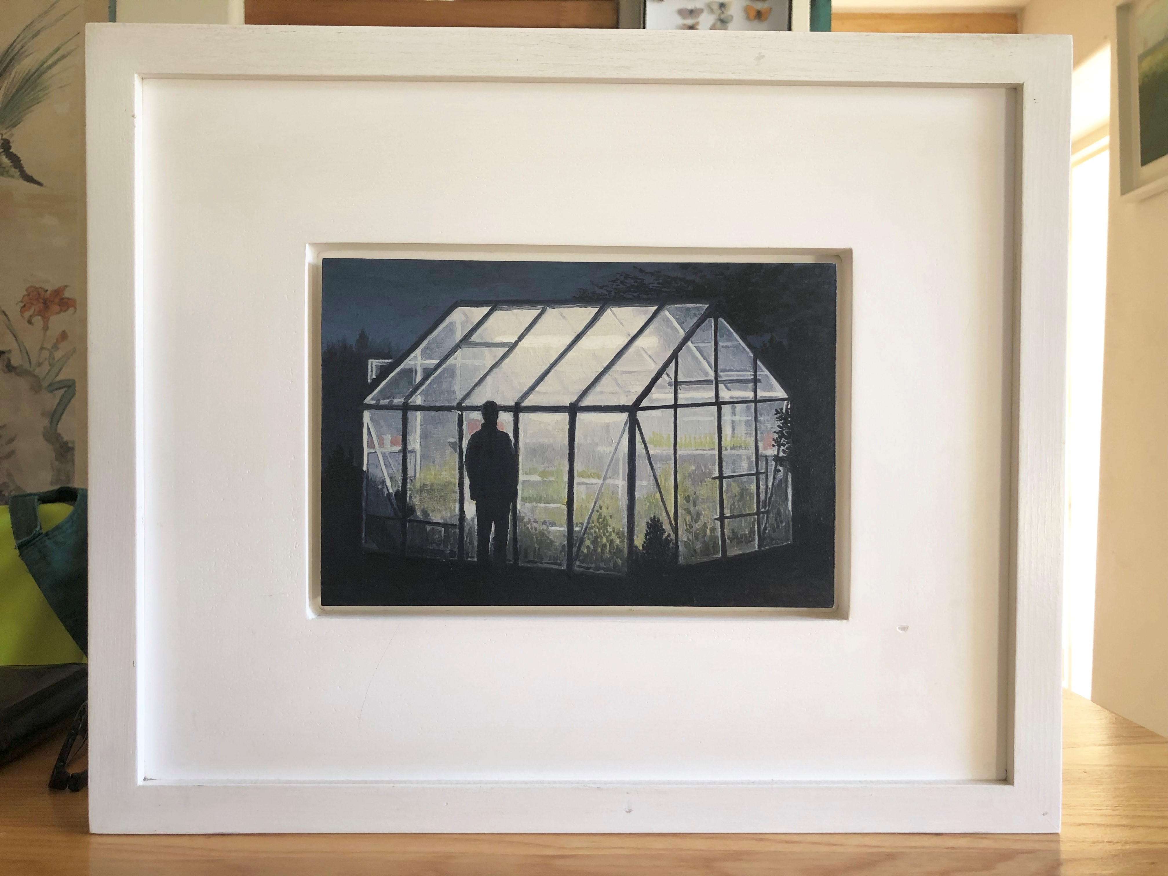 Lot 044 - Barry McGlashan (Scottish b.1974) oil on pane 'Looking Glass House', 115cm x 22cm, Provenance,