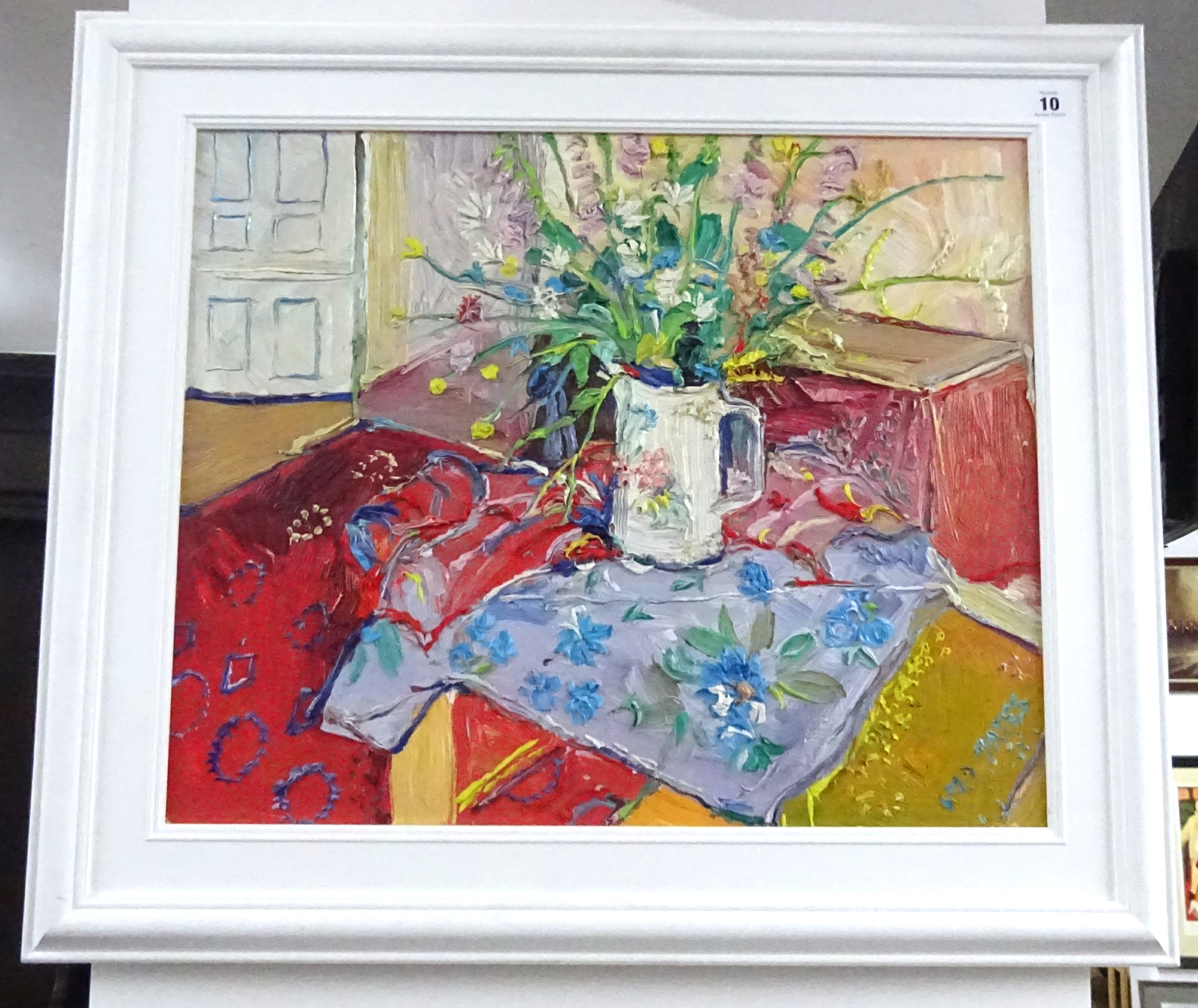 Lot 010 - Fred Yates (1922-2008), oil on canvas 'Still Life', signed, framed, 49cm x 60cm.