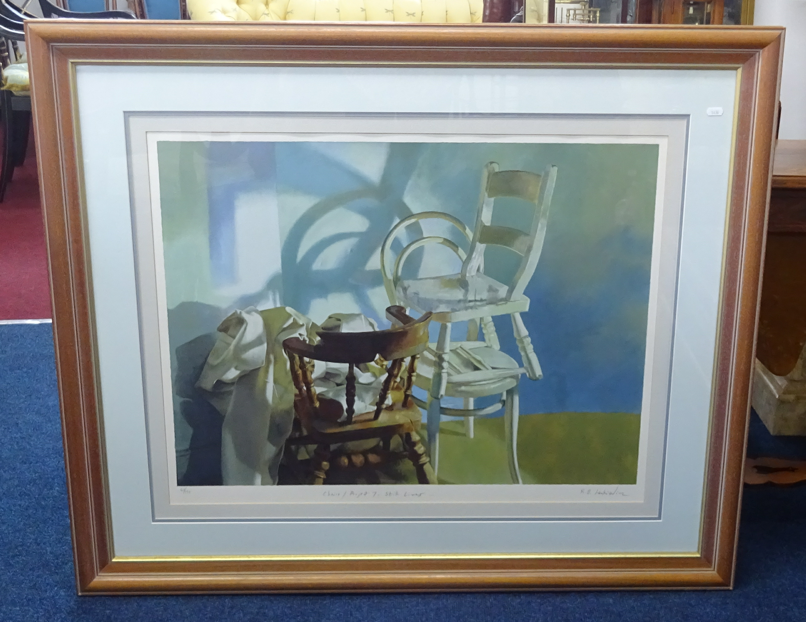 Lot 054 - Robert Lenkiewicz (1941-2002) 'Project 7 still lives chairs', signed limited edition silk screen