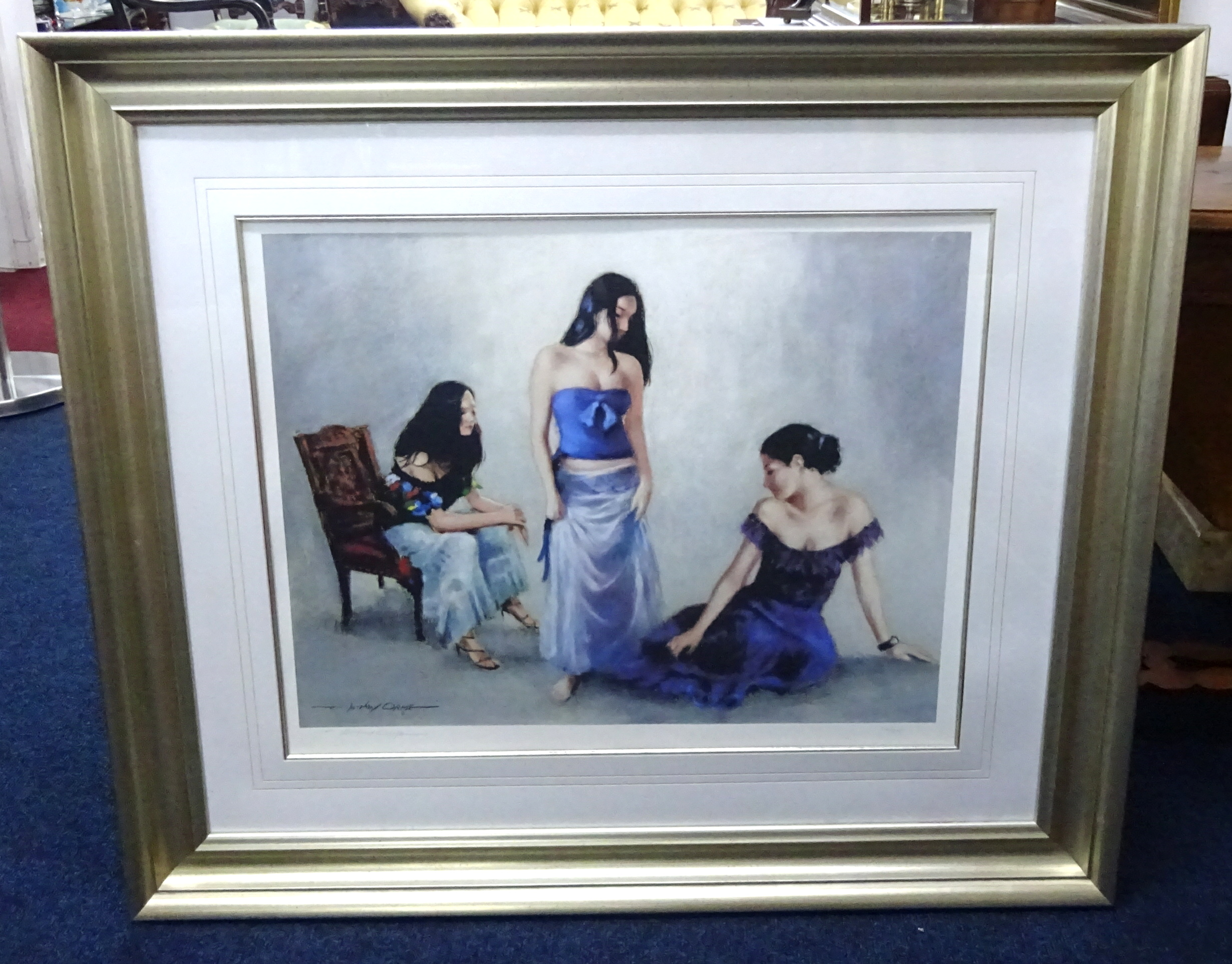 Lot 022 - Anthony Orme (b1945-), signed limited edition print, number 14/25, framed and glazed, 53cm x 58cm.