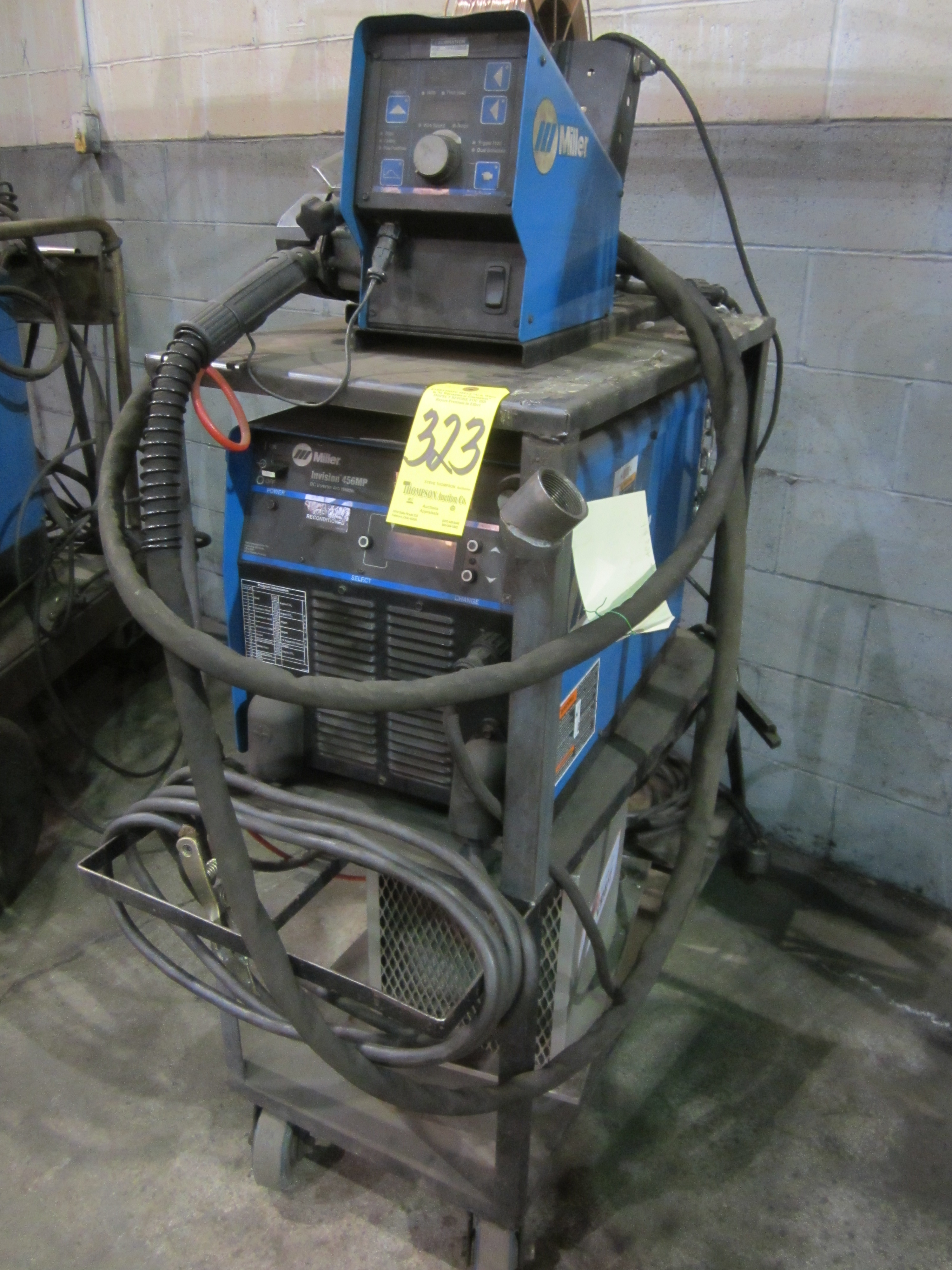 Miller Invision 456MP Mig Welder, s/n LE424916, Miller Wire Feed