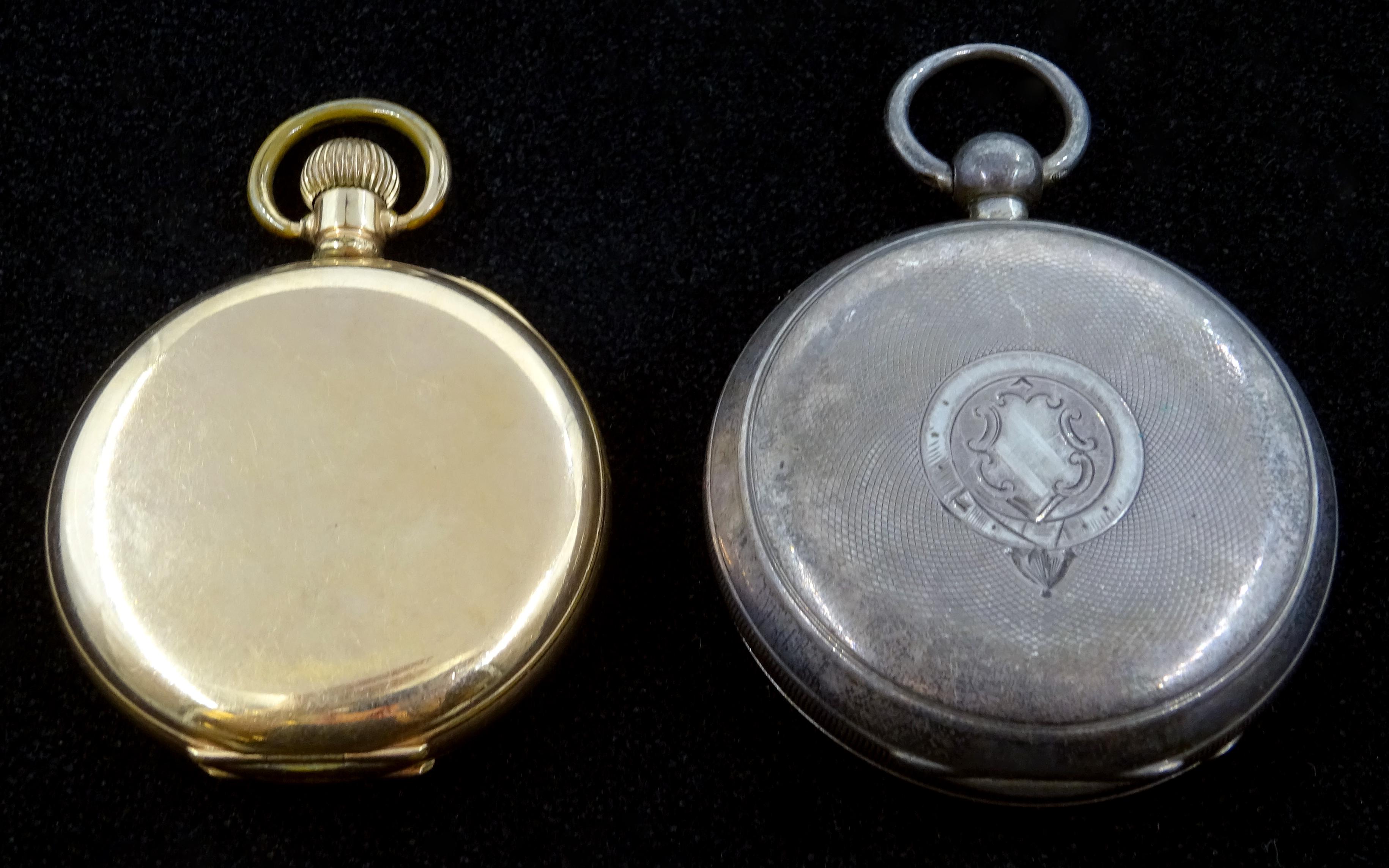 Lot 1160 - Victorian silver pocket watch, key wound by Waltham Mass,