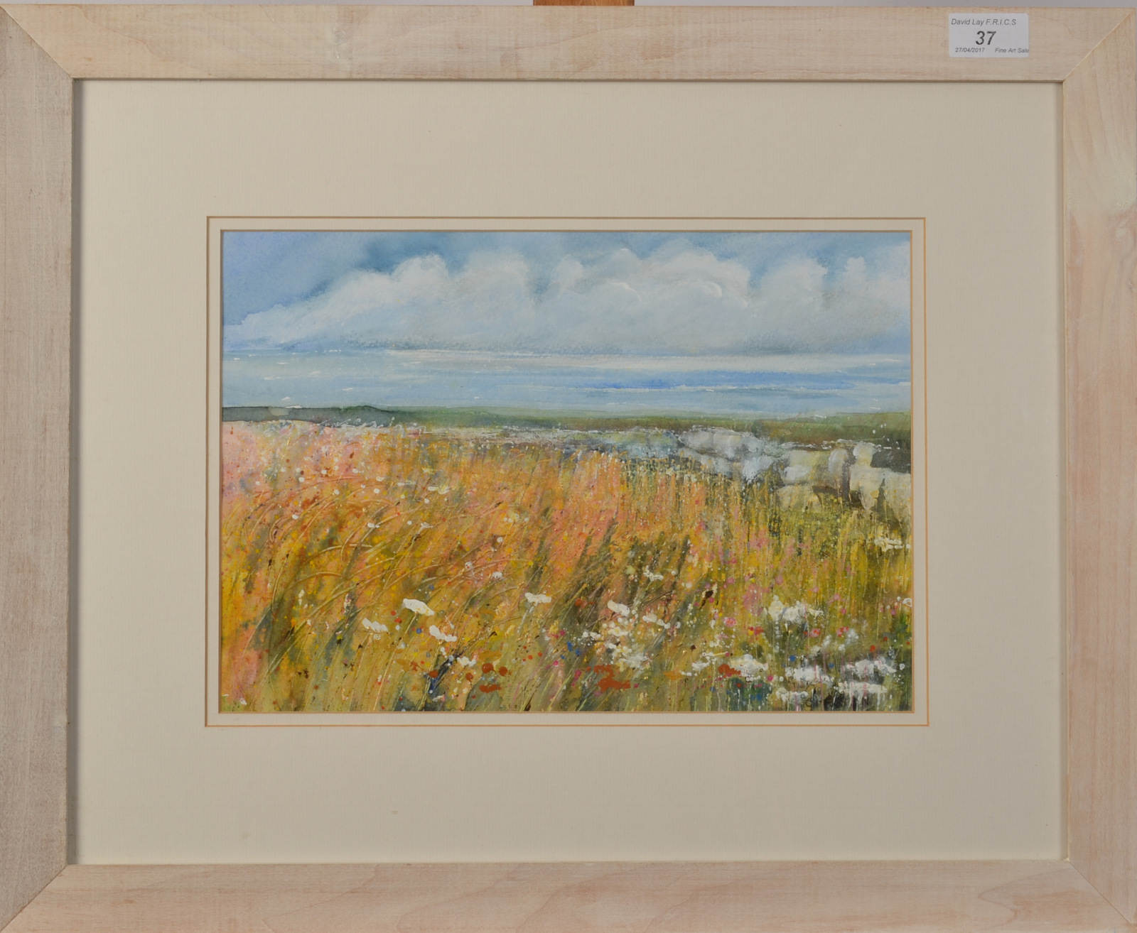 Lot 37 - C PRESTON The West Wind Blows Mixed media Signed Titled on the back 23 x 33cm