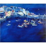 Lot 28 - SUE McDONALD Evening Harbour Acrylic on board Signed and dated '02 50 x 60cm