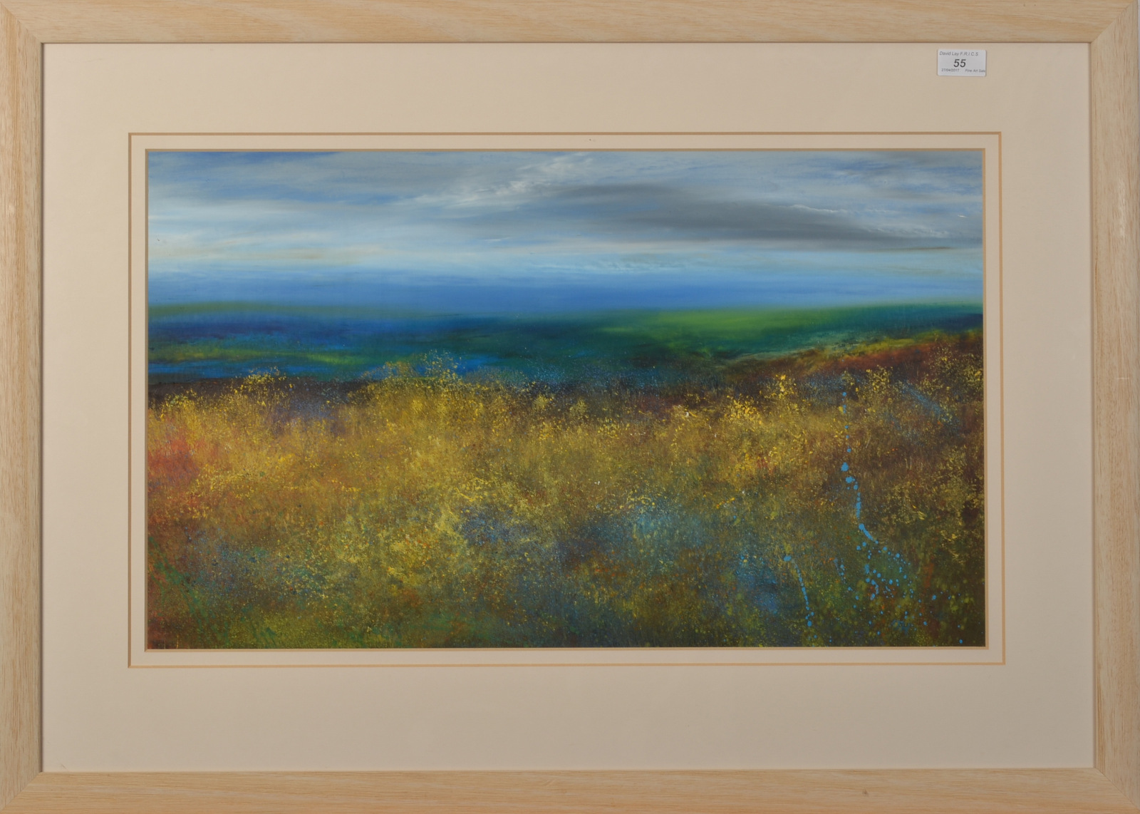 Lot 55 - AMANDA HOSKIN Cornish Moorland Oil on board Signed Titled and dated on the back 2002 40 x 68cm