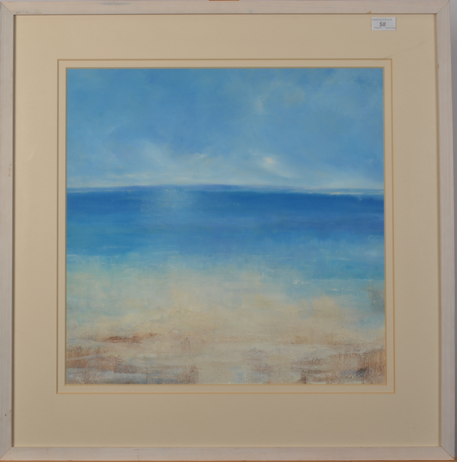 Lot 58 - AMANDA HOSKIN Falmouth Bay Oil on board Signed Titled dated and signed on the back 2001 50 x 5 cm