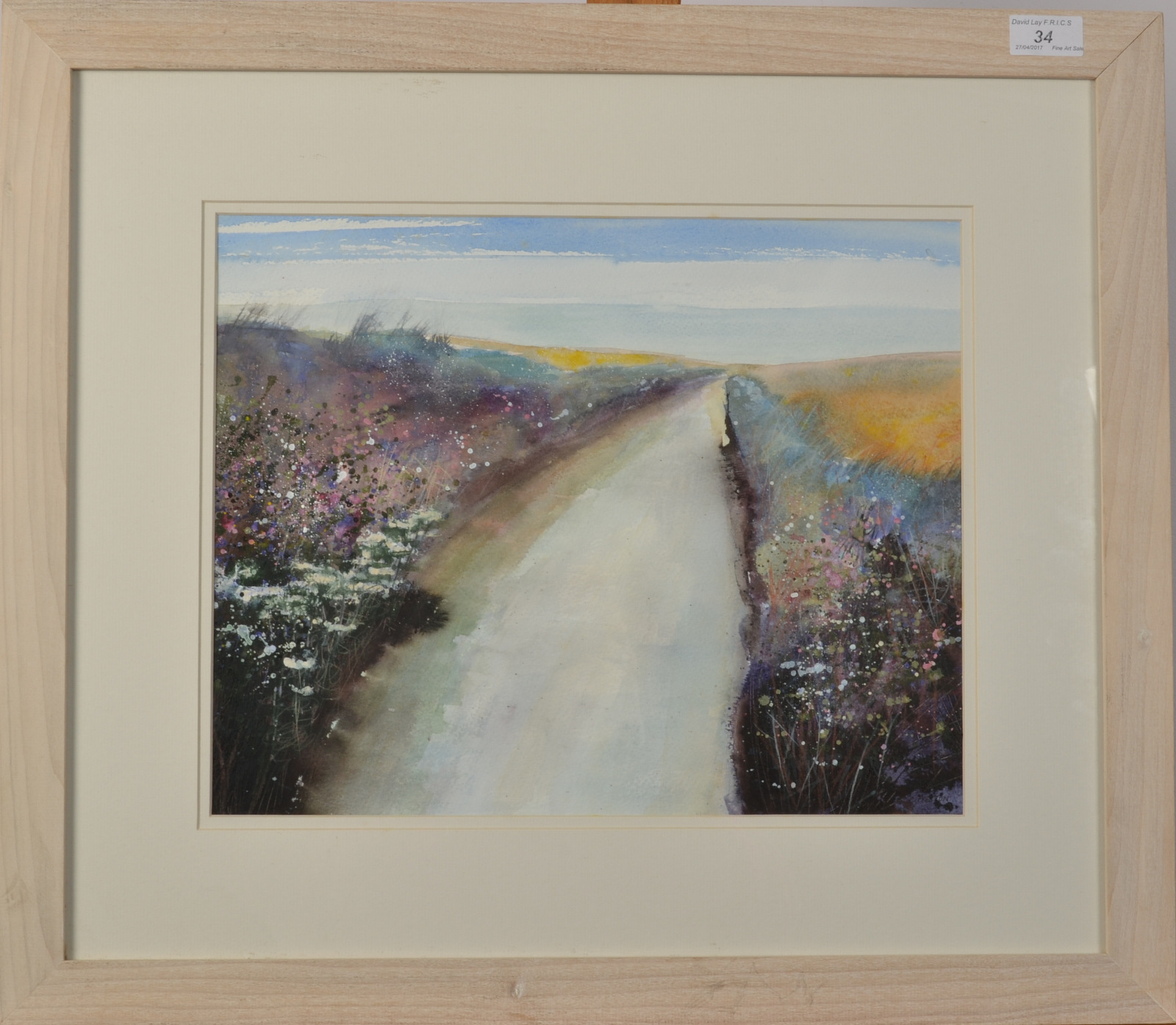 Lot 34 - C PRESTON Evening Mixed media Signed 31 x 39cm
