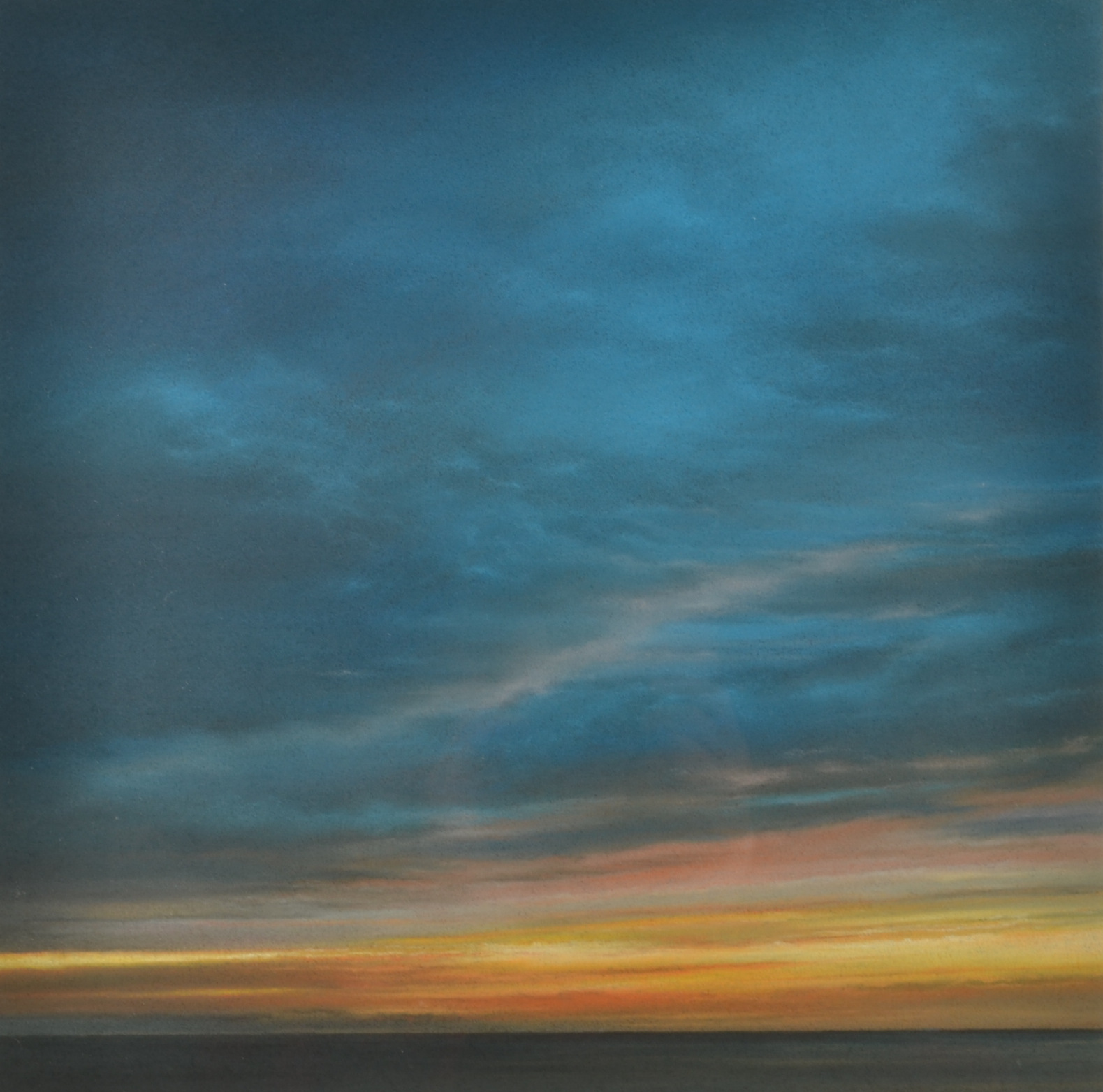 Lot 43 - JOHN HOWARD Sunset Pastel Signed 37 x 37cm