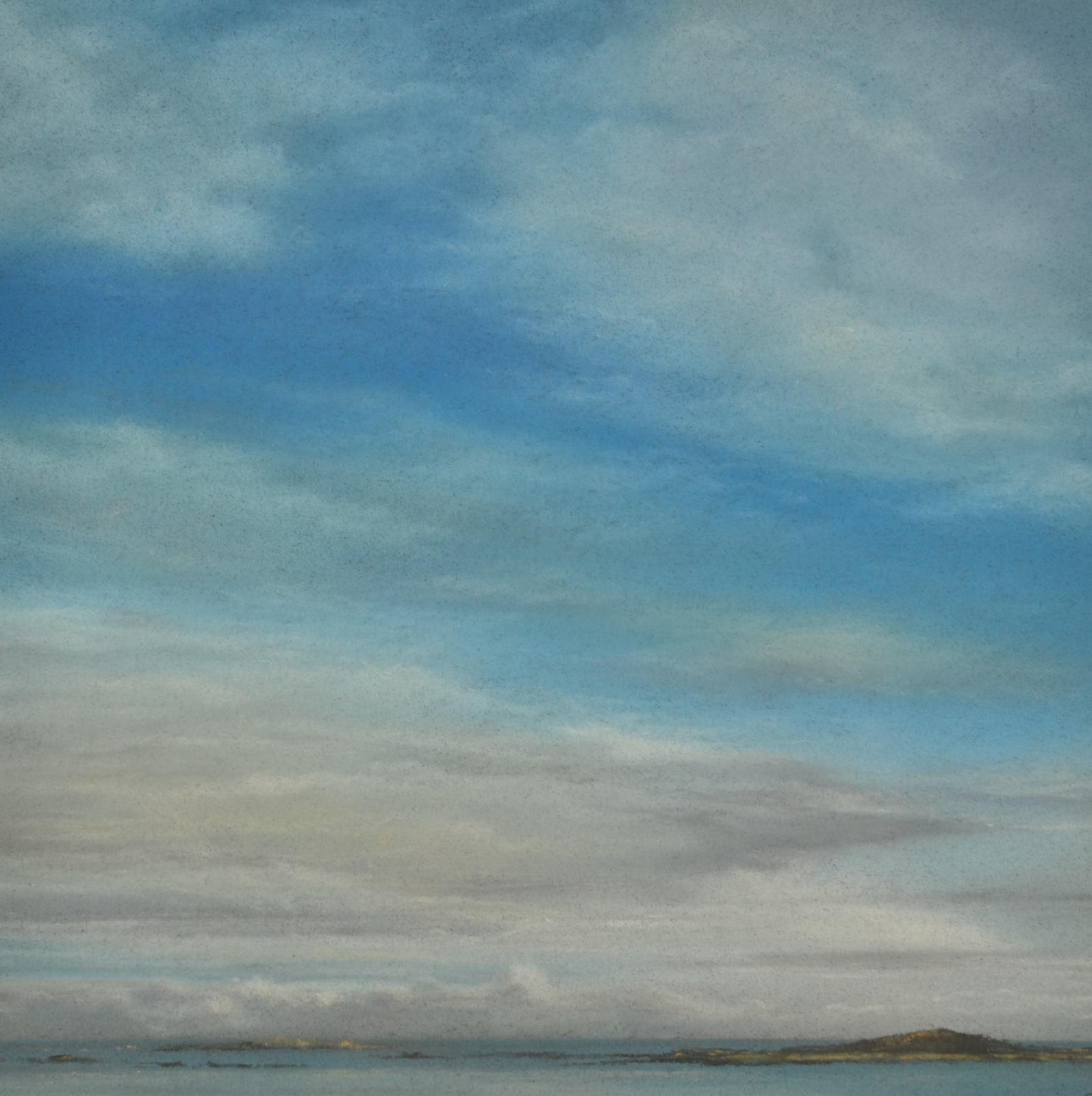 Lot 49 - JOHN HOWARD Sky Study Pastel Signed 20 x 20cm