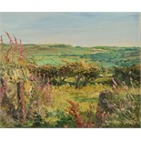 Lot 52 - MICHAEL SMITH Cornish Countryside Oil on canvas Signed Gallery certificate 25 x 30cm plus 2 other