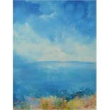 Lot 57 - AMANDA HOSKIN Warm Day, Helford River Oil on board Signed Titled,