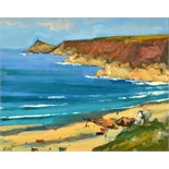 Lot 6 - BOB VIGG Sennen Oil on board Signed Titled and dated on the back 1997 19 x 24cm