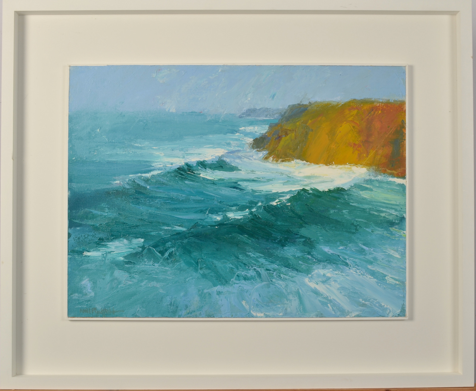Lot 1 - NEIL PINKETT Seascape Oil on Canvas Signed 45 x 61cm