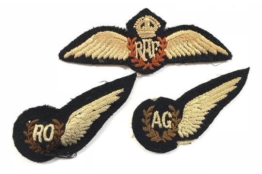 WW2 Period RAF Radio Operators Aircrew Brevet Badge etc A