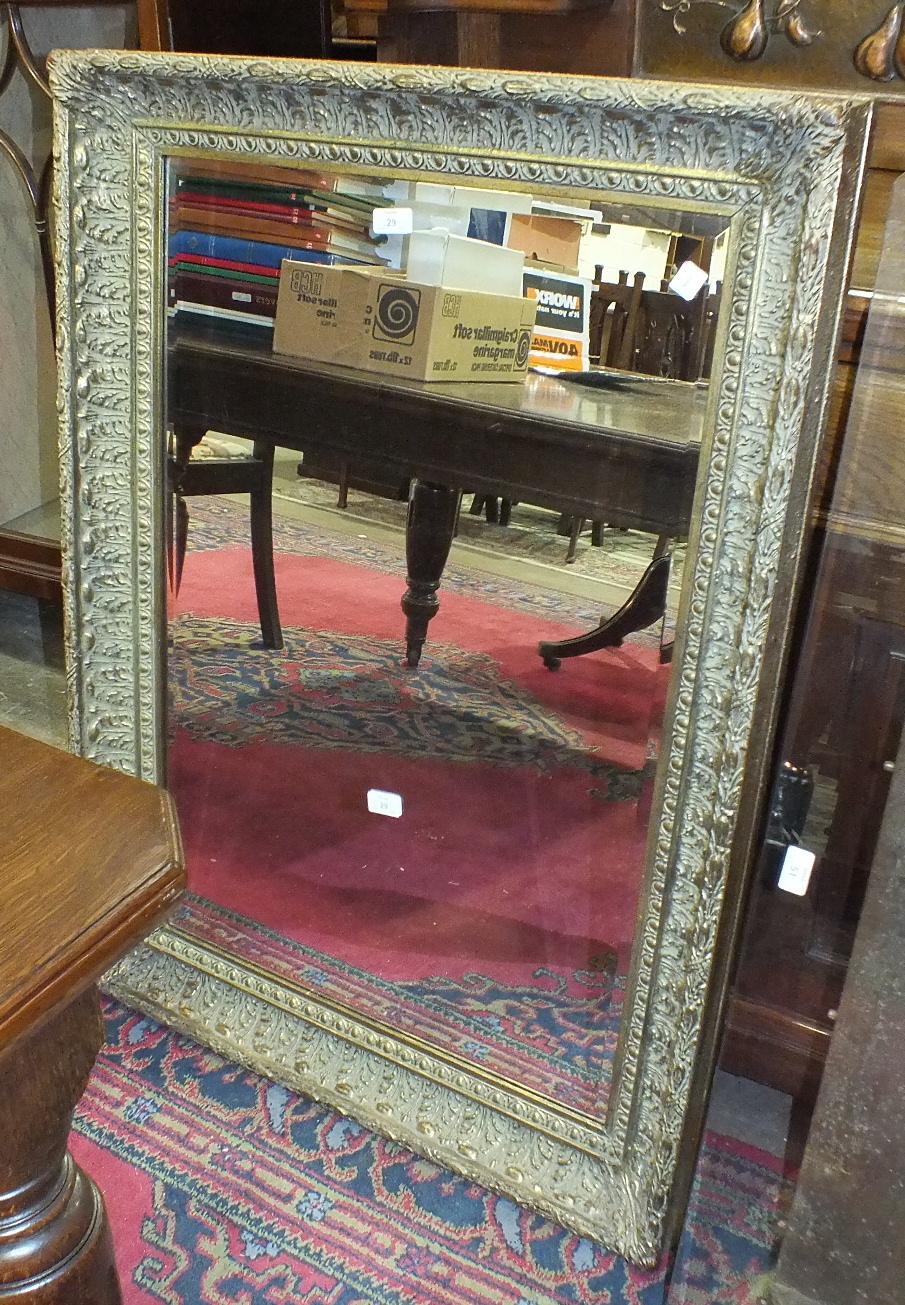 Lot 29 - A gilt-framed wall mirror, 79 x 109cm.