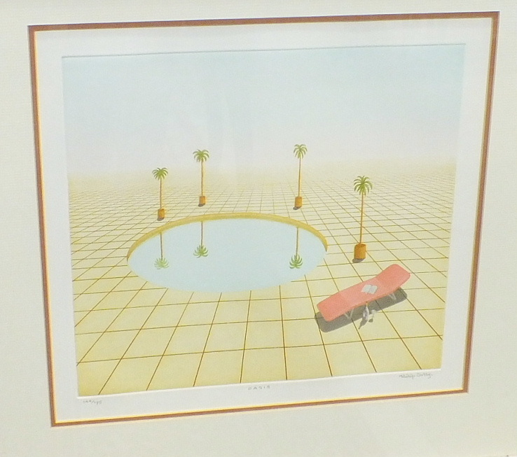 Lot 17 - After Philip Solly, 'Oasis', a signed limited edition print, 29 x 31.5cm, 144/175, after Sue