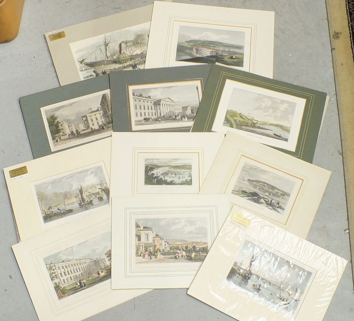 Lot 43 - After T Allom, Wm Daniell and others, a collection of twenty-six framed and unframed coloured