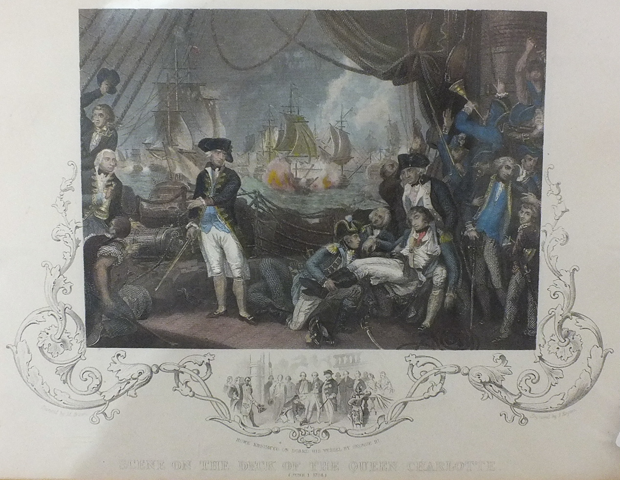 Lot 138 - Two framed coloured engravings for The Modern Universal British Traveller, 'View of Mount Edgcumbe