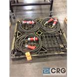 Lot of (3) 3 phase extension cords