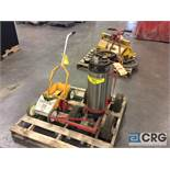 Lot of items including (2) line striping carts, work lights and asst conduit benders