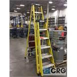 Lot of (2) Rock River fiberglass step ladders, (1) 8 foot and (1) 6 foot