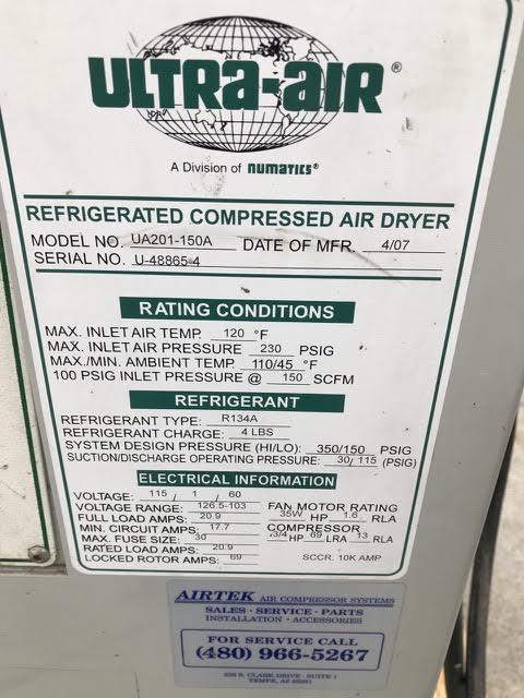 Lot 82 - Ultra-Air Refridgerated Air Dryer