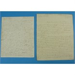 Lot 125 - [Jacobite Rebellion - Battle of Prestonpans] - Sir John Cope Two autograph letters from Sir John