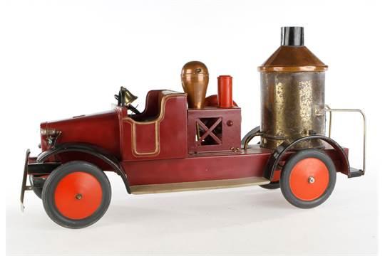 Bing Feuerwehr Dampfspritzen-LKW, mit Kessel und Pumpe, elektr ...