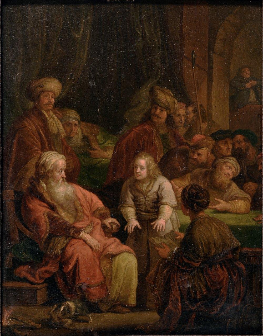 Lot 509 - FOLLOWER OF REMBRANDT HARMENSZ VAN RIJN (1606-1669)Joseph recounts his Dreamoil on panel14 x 11