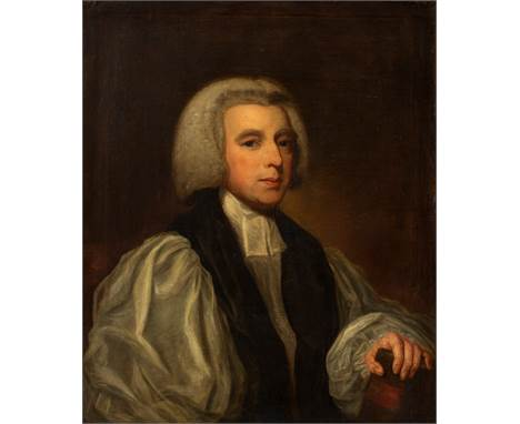 After George Romney (British 1734-1802)/Portrait of the Right Rev Beilby Porteous (1731-1808), Bishop of London/oil on canvas