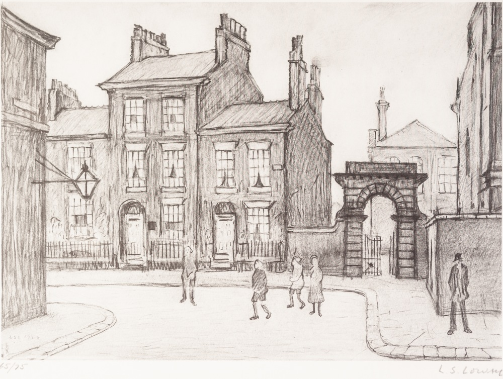 Lot 88 - •L.S. LOWRY (1887 - 1976) ARTIST SIGNED LIMITED EDITION PRINT OF A PENCIL DRAWING 'County Court,