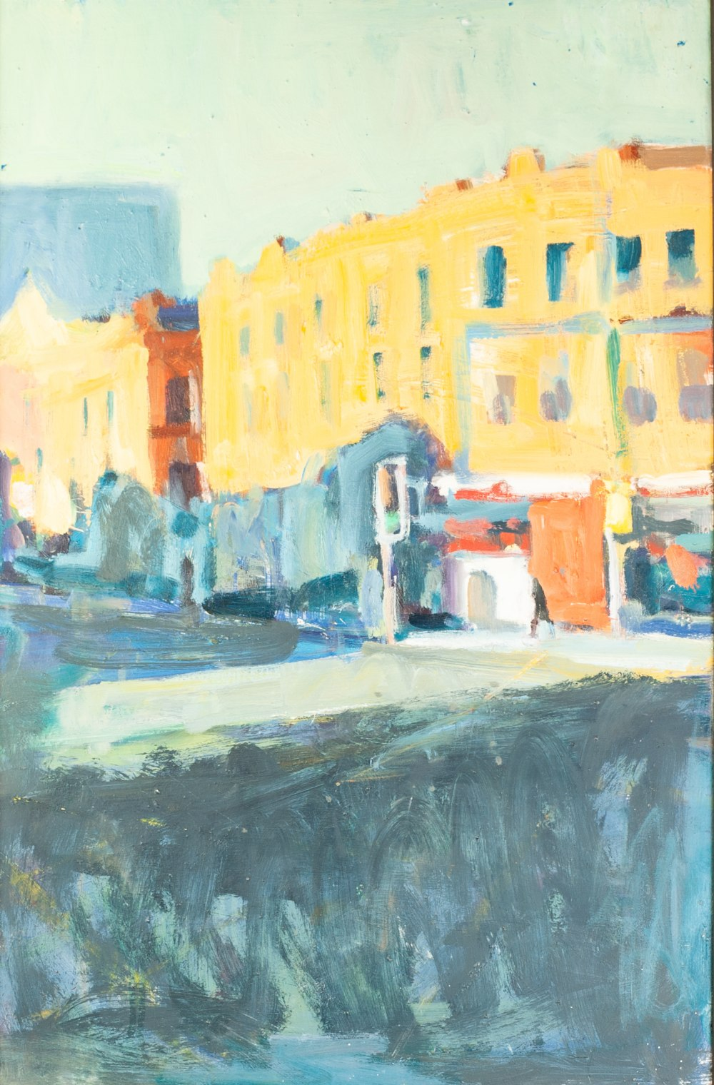 Lot 40 - PAUL BASSINGTHWAIGHTE (1963) OIL PAINTING ON BOARD 'Deansgate Corner' Signed to label verso 23 1/