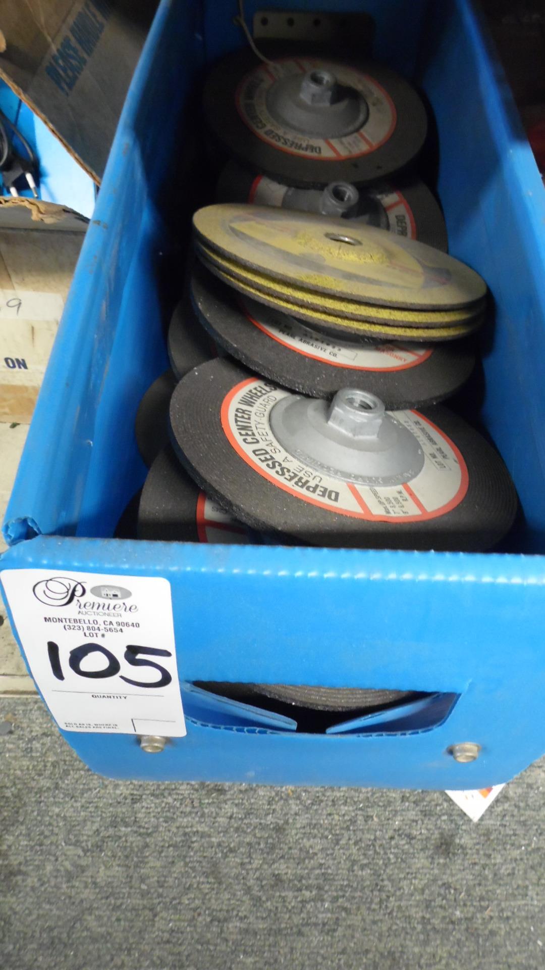 Lot 105 - BOX OF ABRASIVE WHEELS